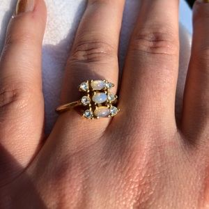 Avon vintage opal ring